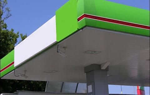 stacja benzynowa - panele listwowe