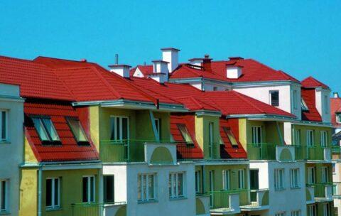 dachy budynków